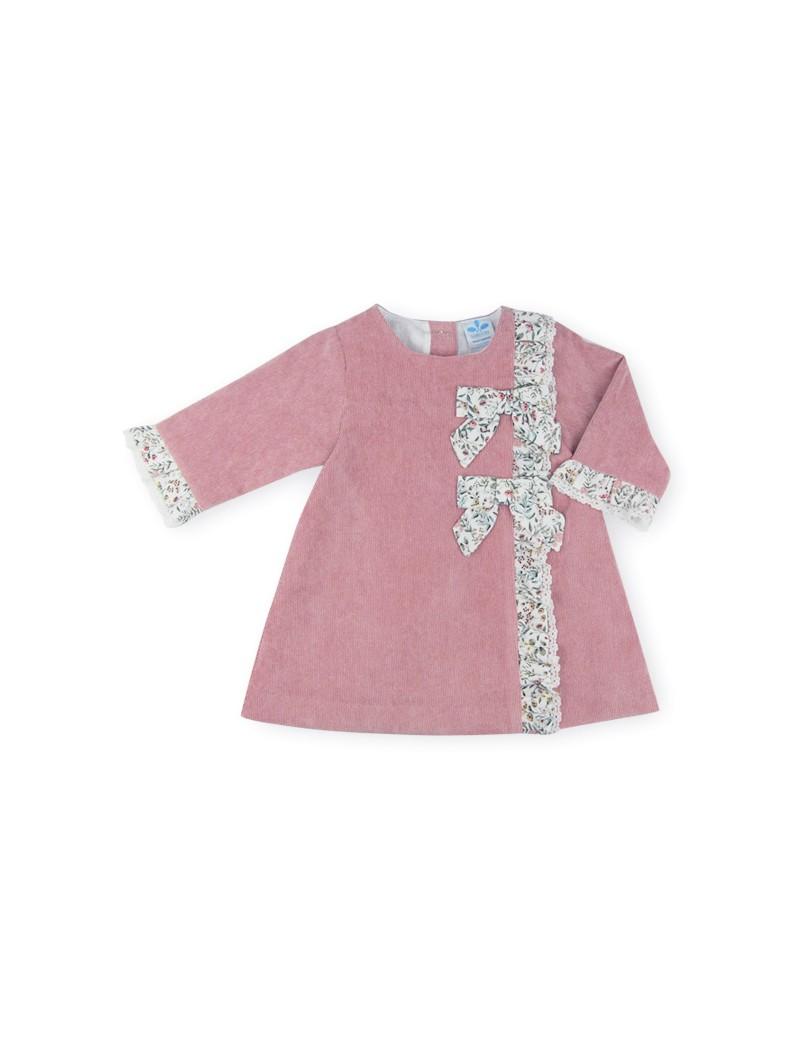 Vestido cruzado pana Leonor
