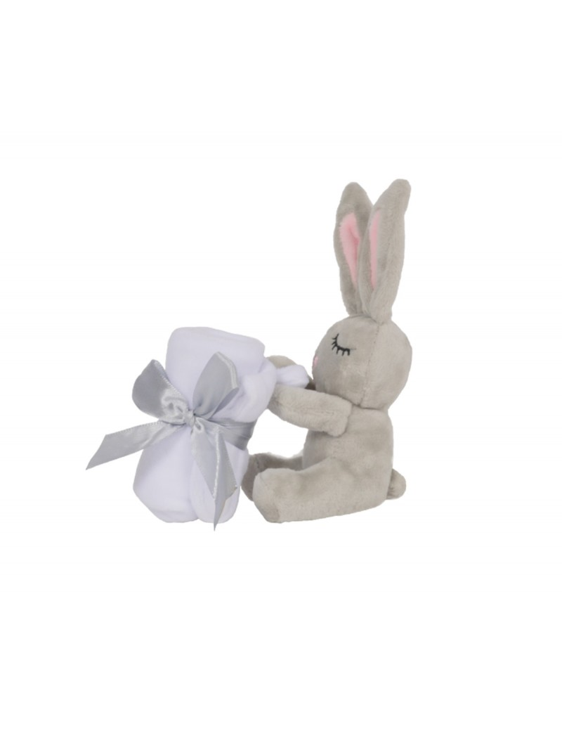 Doudou Mini Little Bunny Gris