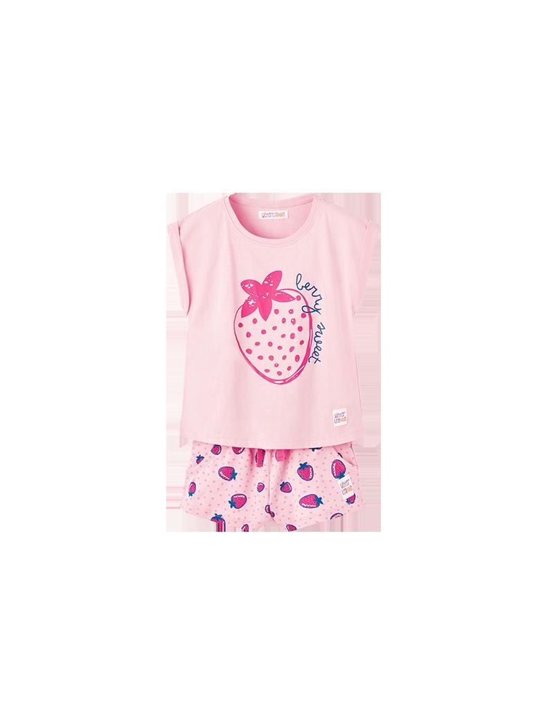 Pijama manga corta fresas